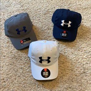 3 Under Armour Golf Hats, NWT